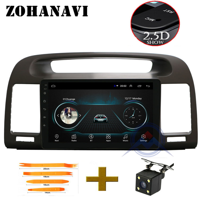 ZOHANAVI 2 5D Android Car DVD GPS Navigation For Toyota Camry V30 XV30 2002 2006 Car