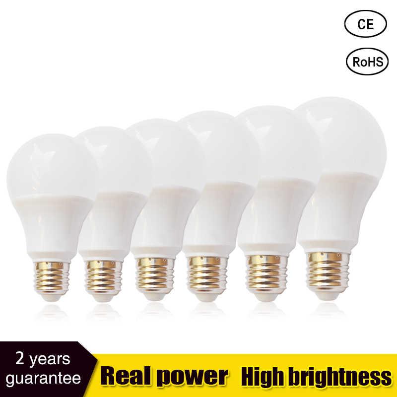 Lâmpada led e27 lâmpada led b22 3 w 5 7 9 12 15 110v 220 v smd2835 conduziu a lâmpada lampada branco quente frio holofotes luz