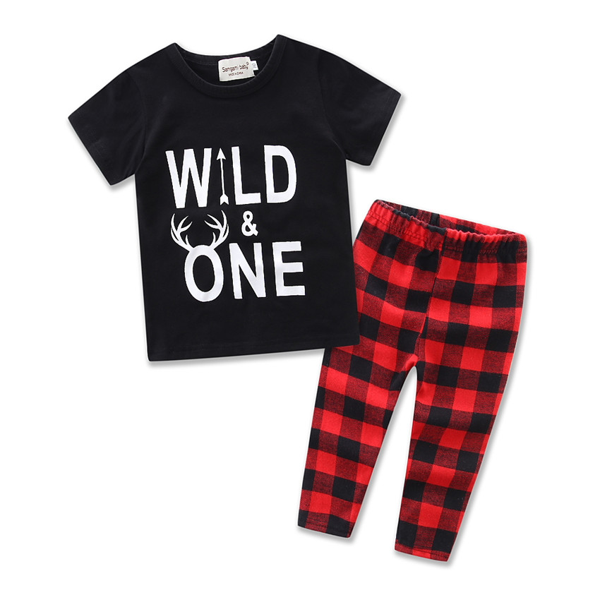 Children/'s Suit Summer Baby Boy Clothing Sets Cotton Baby Boys Long Sleeve Plaid