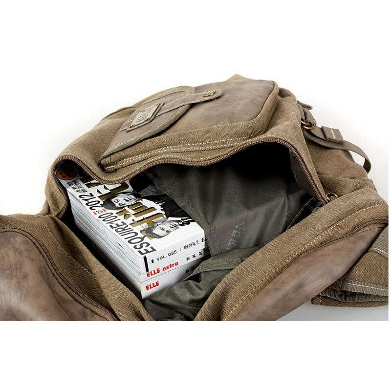 435f8099de811 AERLIS Männer Vintage Leinwand Leder Schulter Rucksack Reise Schule Sling  Military Tasche Große Teenager Rucksack Frauen Mochila 6218 in AERLIS Männer  ...