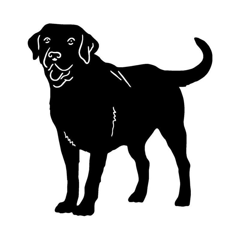 12.2*12.8CM Labrador Retriever Dog Car Cover Scratch Animal Stickers Lovely Animal Car Decorative Decals C6-0235
