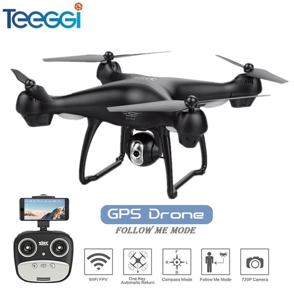 Date GPS FPV RC Drone avec 1080 p Réglable Large Anlge Caméra WIFI FPV Suivez-moi GPS Retour Maison RC quadcopter Drone VS X8PRO