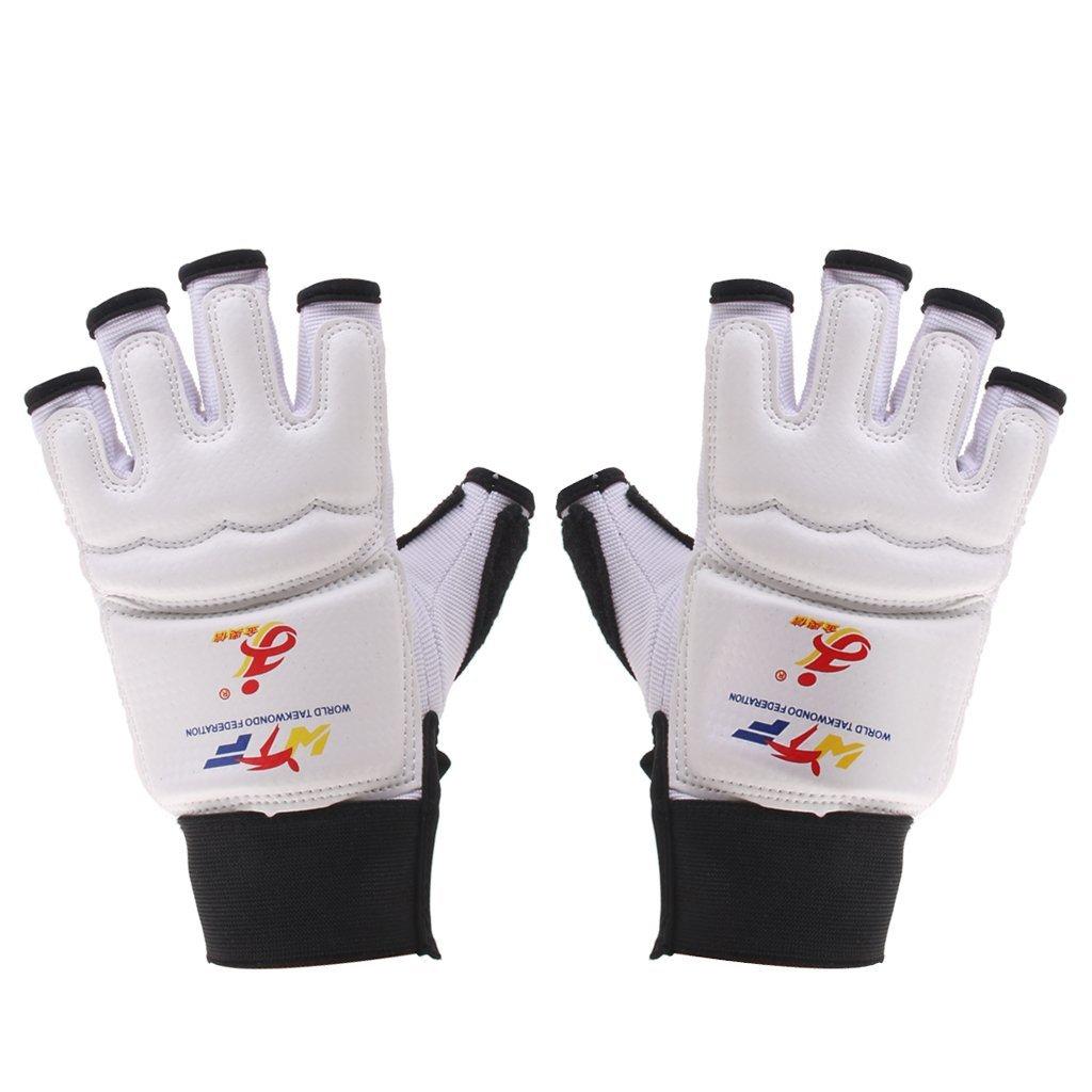 Jinaoxin 1 пара защита рук Прихватки для мангала eva площадку для тхэквондо каратэ спарринг Бокс (белый/черный)