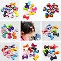 10 Unids/lote Pequeño Mini Arco Hairgrips Dulce de los Bebés Solid Dot/Raya Impresión Toda Envuelta Seguridad Pinzas Para el Cabello Para Niños horquillas