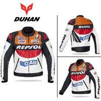 2017 Fashion DUHAN Moto Racing Jackets motorbike GP REPSOL motorcycle Riding Leather Jacket PU leather Polyurethane orange blue