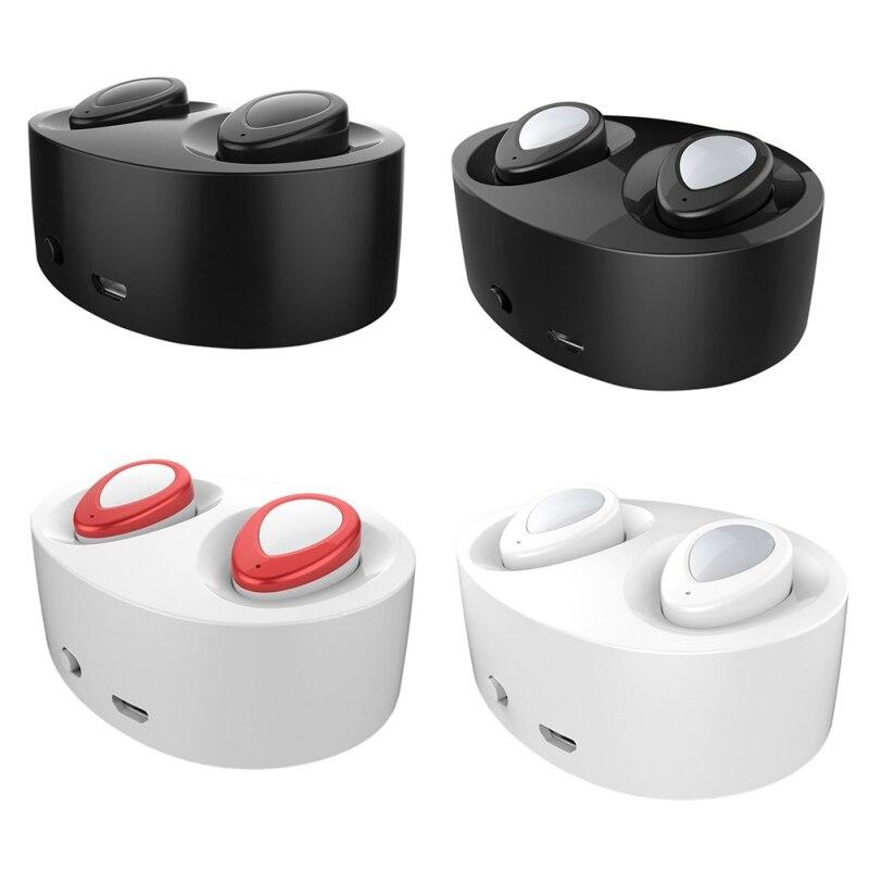 bilder für Dual Stereo Bluetooth 4,1 + EDR Kopfhörer Mini Bluetooth Headset Drahtlose Freisprecheinrichtung Ohrhörer Mikrofon Doppel Hörmuscheln