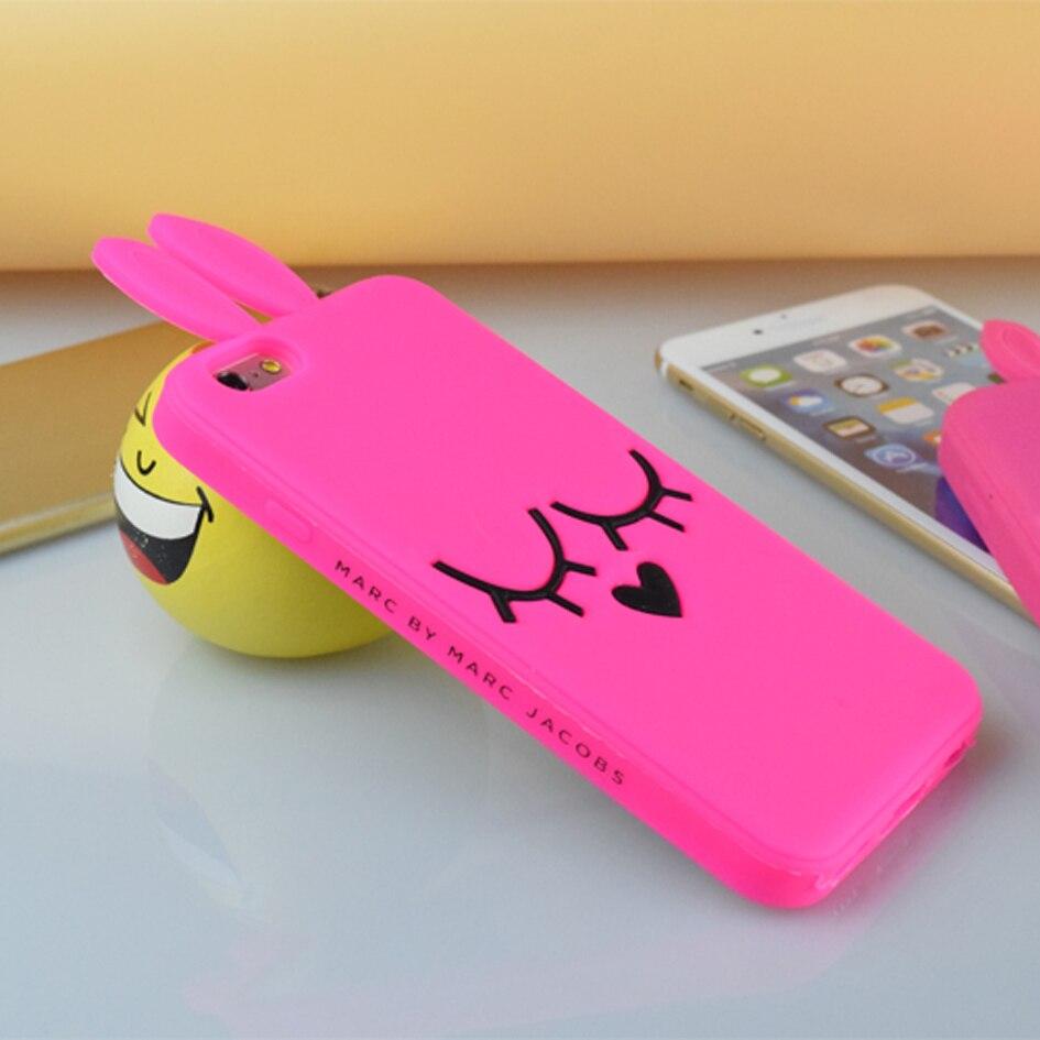 ファッション ブランド marc. jacobs シリコーン ピンク うさぎ ソフトケースカバー iphone用4 4 s