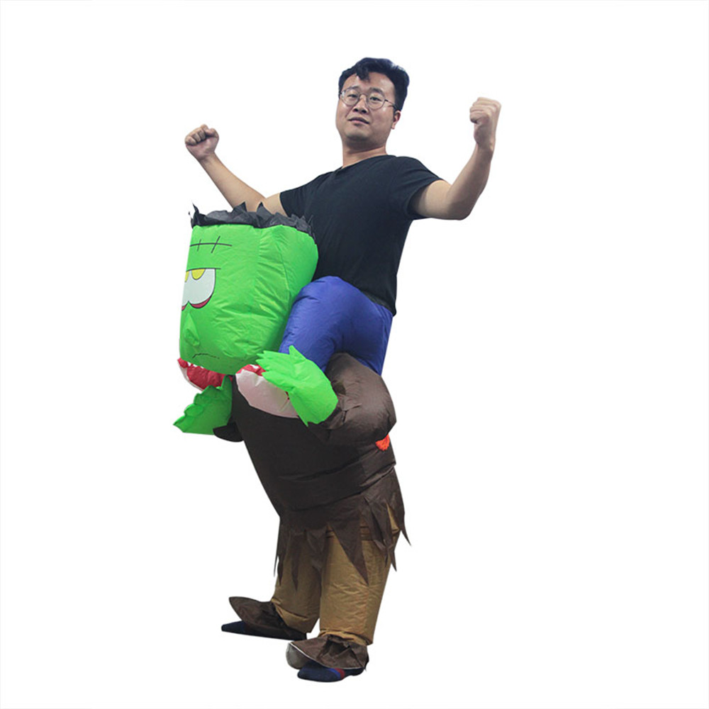 Halloween Christmas the scientist Frankenstein Inflatable Doll Funny Costumes Riding Pants Costume Adult Funny Costume