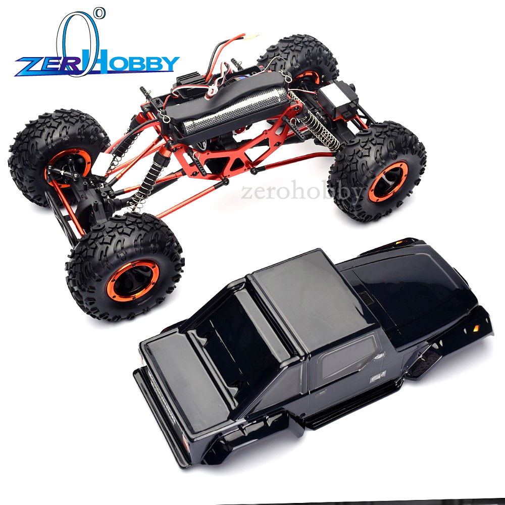HSP RACING HOBBY CAR 1/10 SCALE ELECTRIC 4WD OFF ROAD ROCK CRAWLER TRUCK, WHEELS STEERING MODEL 94180 T2