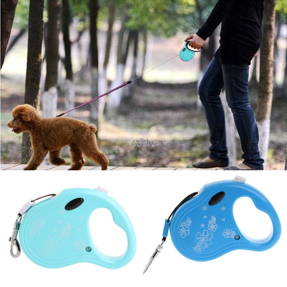 Pet Leash 3M Length ABS Nylon Automatic Retractable Dog Puppy Traction Rope N28 Drop Ship