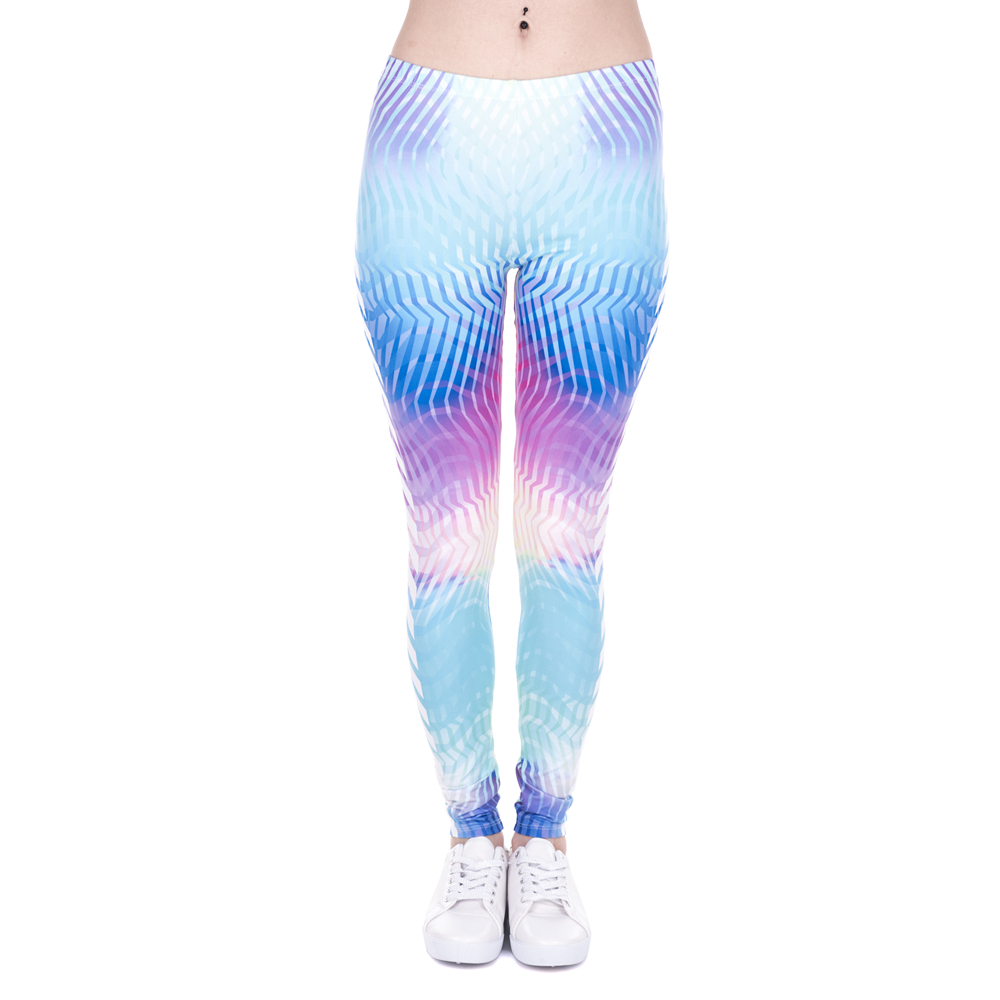 Brand Women Leggings White Arrowa Hologrephic Printing Fitness Legging High Waist Woman Pants