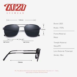 Image 3 - 20/20 מותג קלאסי כיכר מקוטב משקפי שמש גברים נשים נהיגה מתכת מסגרת משקפיים שמש זכר משקפי UV400 Gafas דה סול 17076