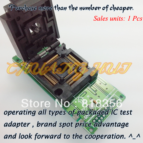 GA-S5L840F-128TQ Programmer Adapter FPQ-128-0.4-02 FPQ128/QFP128 Adapter IC Test Socket/IC Socket 0.4mm