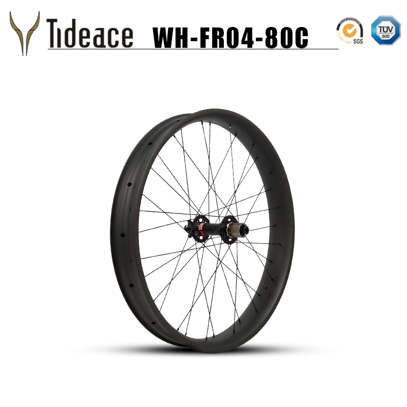 26er 32H carbon fat bike rims wheel 80mm carbon snow bicycle wheelset Chinese 26 quot Wheels Carbon Clincher Novatec hubs thru axle in Bicycle Wheel from Sports amp Entertainment