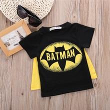New 2016 cartoon batman t-shirts costume childrens clothing children t shirts wear