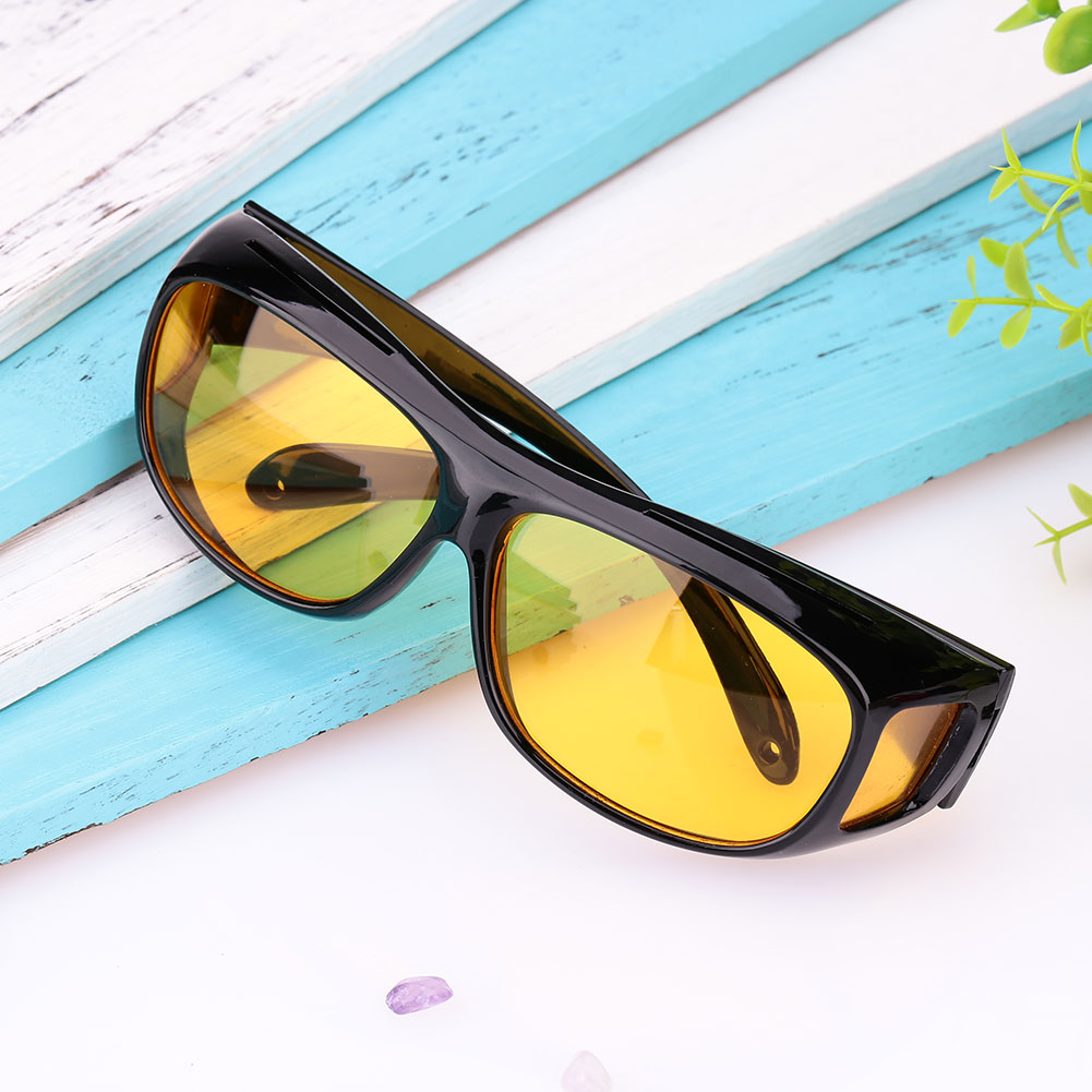 Vehemo Men Women Sunglasses Goggles Car Driving Glasses Eyewear UV Protection Unisex HD Yellow Lenses Sunglasses Night Vision ...
