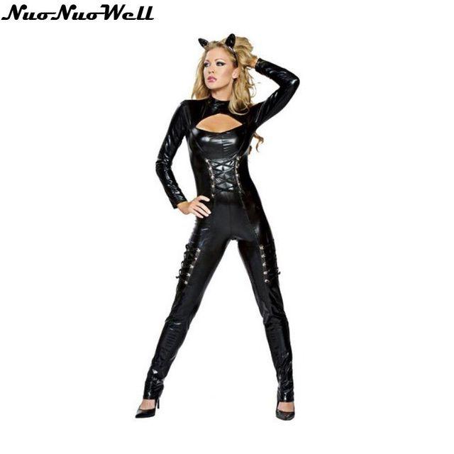 Mujeres sexy traje de gato envo libre Halloween gato Nias con
