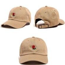 350a1685143 1 Piece Beach Sun Cap Embroidered Rose Casquette Polos Baseball Caps  Strapback Hats for Men Women