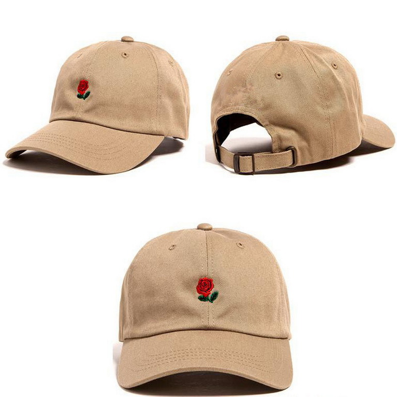 1 Piece Beach Sun   Cap   Embroidered Rose Casquette Polos   Baseball     Caps   Strapback Hats for Men Women Casual Sports Snapback Hat