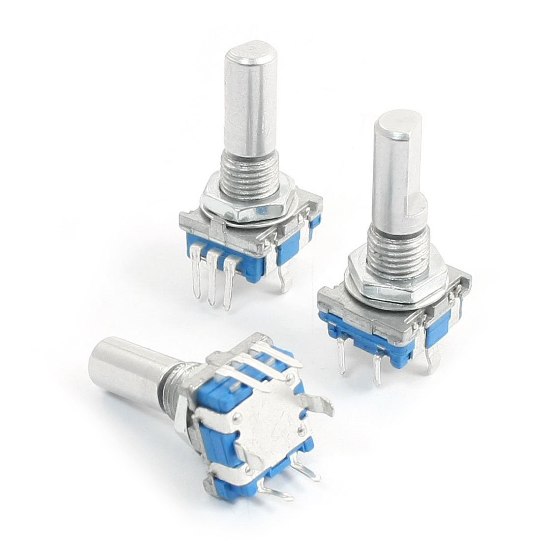 BOFO 3Pcs 6mm D Shaft 18 Position 360 Degree Rotary Encoder w Push Button in Switches from Lights Lighting