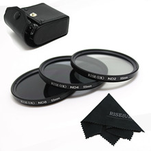 RISE(UK) 55MM Neutral Density Filter Lens Set Kit ND2 ND4 ND8 ND 2 4 8