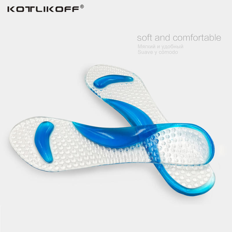 KOTLIKOFF Gel Massage Arch Support 3/4 Insoles Orthotic Flatfoot Prevent Foot Cocoon Painful Women High Heels Shoes Pad inserts gel massage arch support insoles orthotic flatfoot prevent foot cocoon high heels shoes pad feet women
