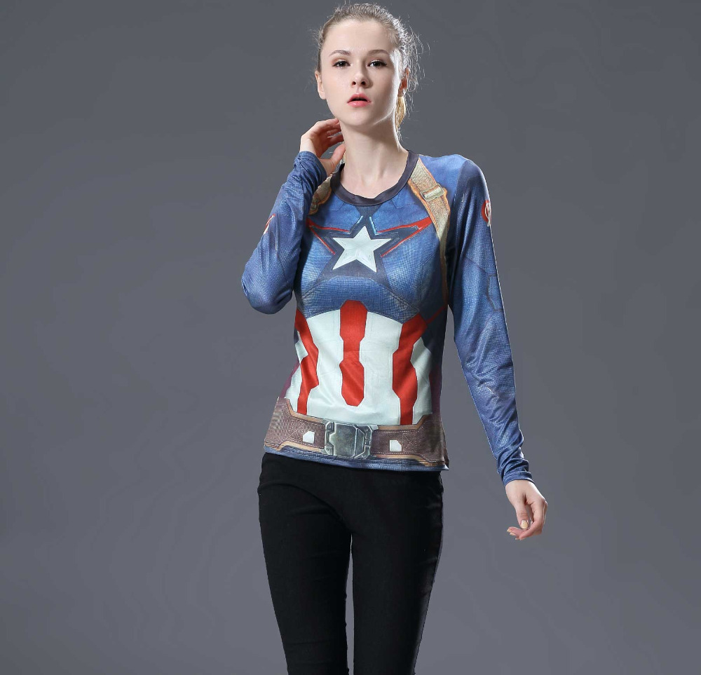 2016 Marvel Γυναικεία T-shirt Φορέματα - Γυναικείος ρουχισμός - Φωτογραφία 2