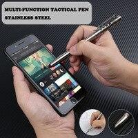 Нержавеющая сталь Портативный тактическая ручка с сенсорный экран стилусы аварийного Стекло Выключатель Открытый выживания самообороны