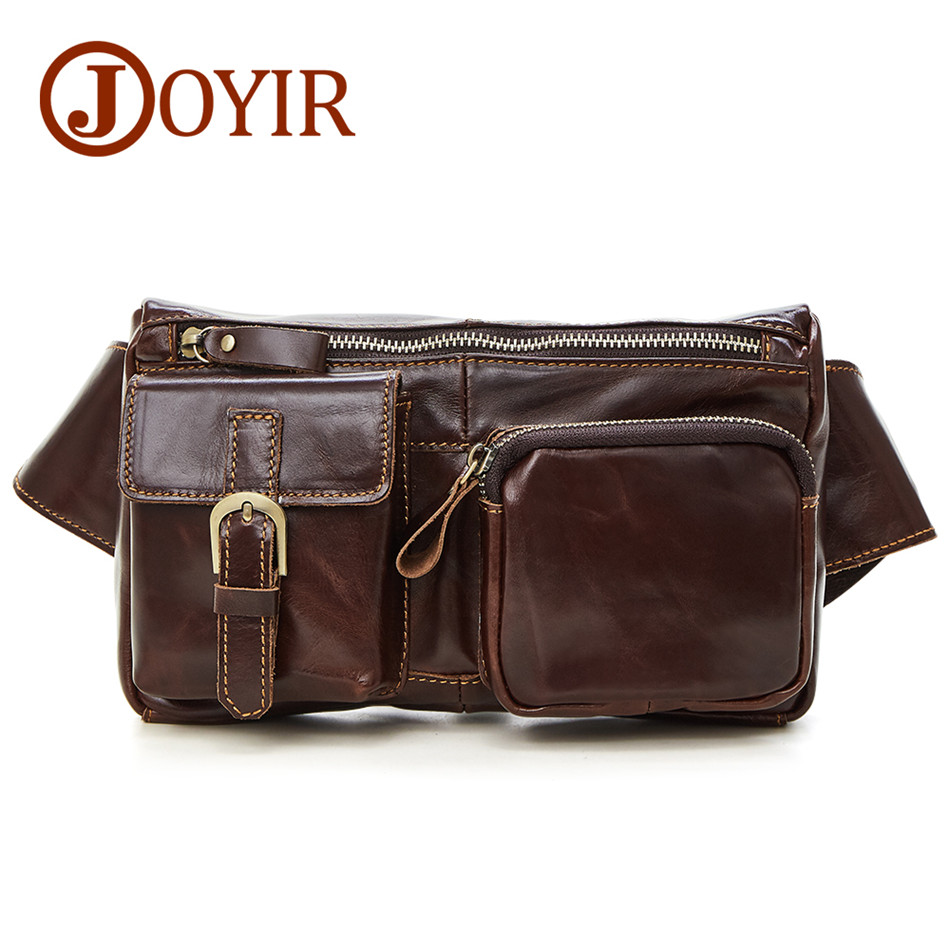 Genuine Leather waist bag for men Fanny Pack Belt Bag Phone Pouch Bags Travel Waist Pack