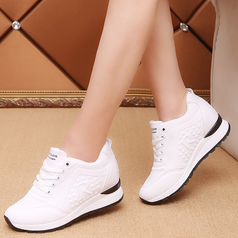Women's Casual Shoes 2019 Spring Thick Bottom Wedge Female Sports Shoes Interior Sports Increase Ladies Student Shoes