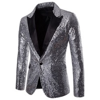 178b48573 ... Men Sequin Glitter Embellished Blazer Jacket Shiny Men Nightclub Blazer  Weeding Party Suit Jacket. 2018 caliente hombres lentejuelas adornado  Chaqueta ...