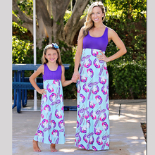 Highwaist Mother Daughter Dresses Family Look Mommy and Me Clothes Mom Mum and Daughter Print Dress Clothing Matching Outfits family matching outfits mom mommy and me clothes print black and white splice mother daughter dresses family clothing plus size