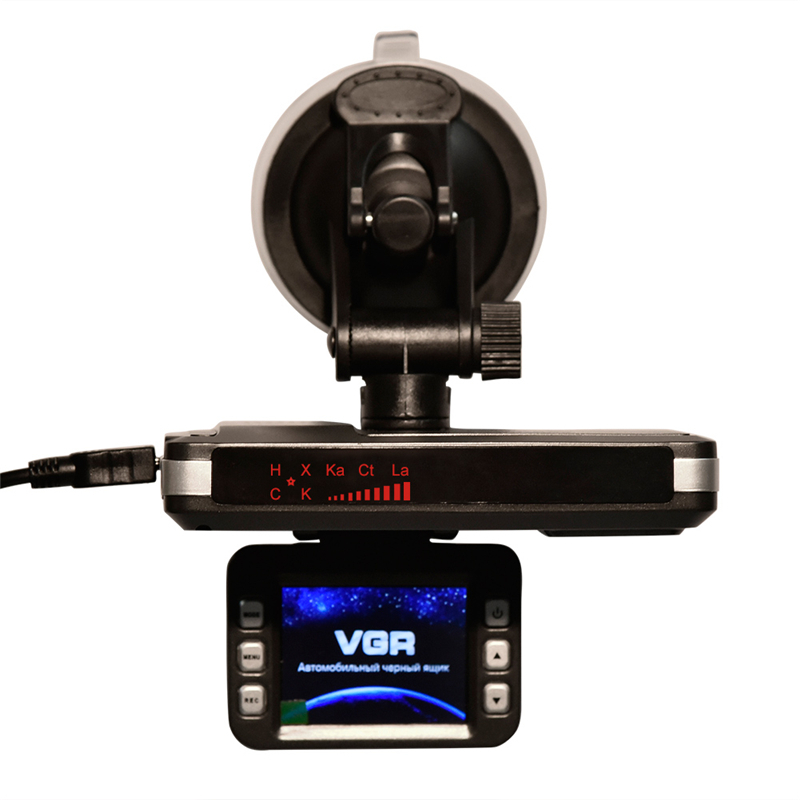 2.0 Inch LCD Display Car DVR Video Recorder Auto Dash Cam + Radar Laser Speed Detector 2 in 1 For Russian Radar Detector 720P