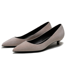 Hot Sale Brand Design Plus Size OL Office Lady Shoes Kid Suede Leather Woman Pointed Toe Dress Shoes Basic Pumps Women F0084 цена 2017