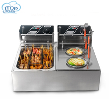Electric Fryer&Pasta Boiler Pasta Cooking machine Commercial Noodle Cooker Stainless Steel 110/220V Oden Cooking Machine gh588 gas commercial counter top pasta cooker