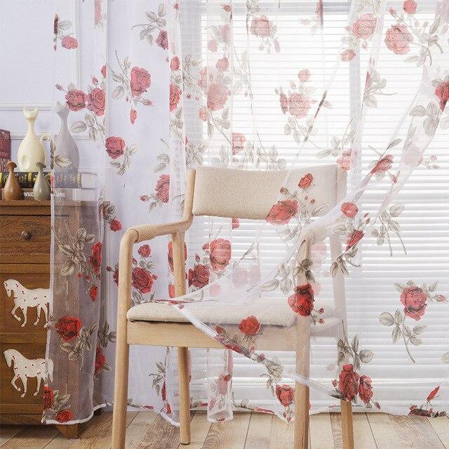 Rosen Vorhänge Schöne Luxus Wohnzimmer Tüll Chinesischen Vorhänge Für  Schlafzimmer Blackout 3d Gardinen Hochzeit Dekoration