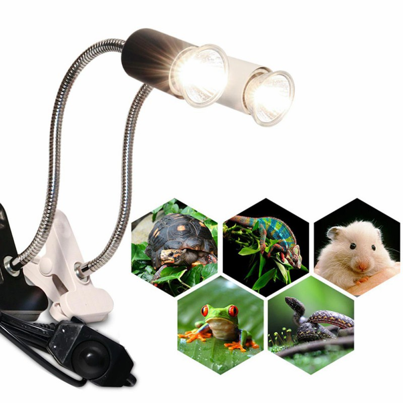 Clamp Lamp For Turtles Full Spectrum Sun Uvb Lamp For Reptiles Habitat Lighting Heat Lamps Adjustable Uva Heating Lamp