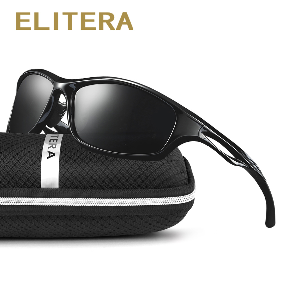 ELITERA Brand Design Ultralight TR90 Pilot Sunglasses Men Polarized Driving Sun glasses Male Outdoor sports Goggles UV400