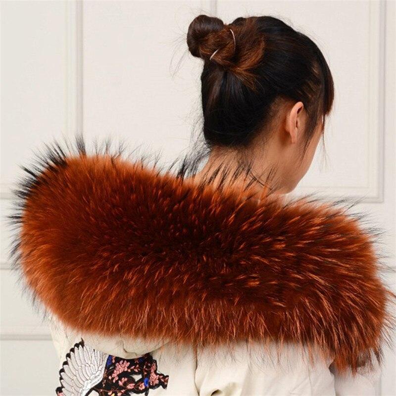 Real Raccoon Fur Collar Womens 100 Natural Fur B Collar Real Fur Shawl Raccoon collar Fur