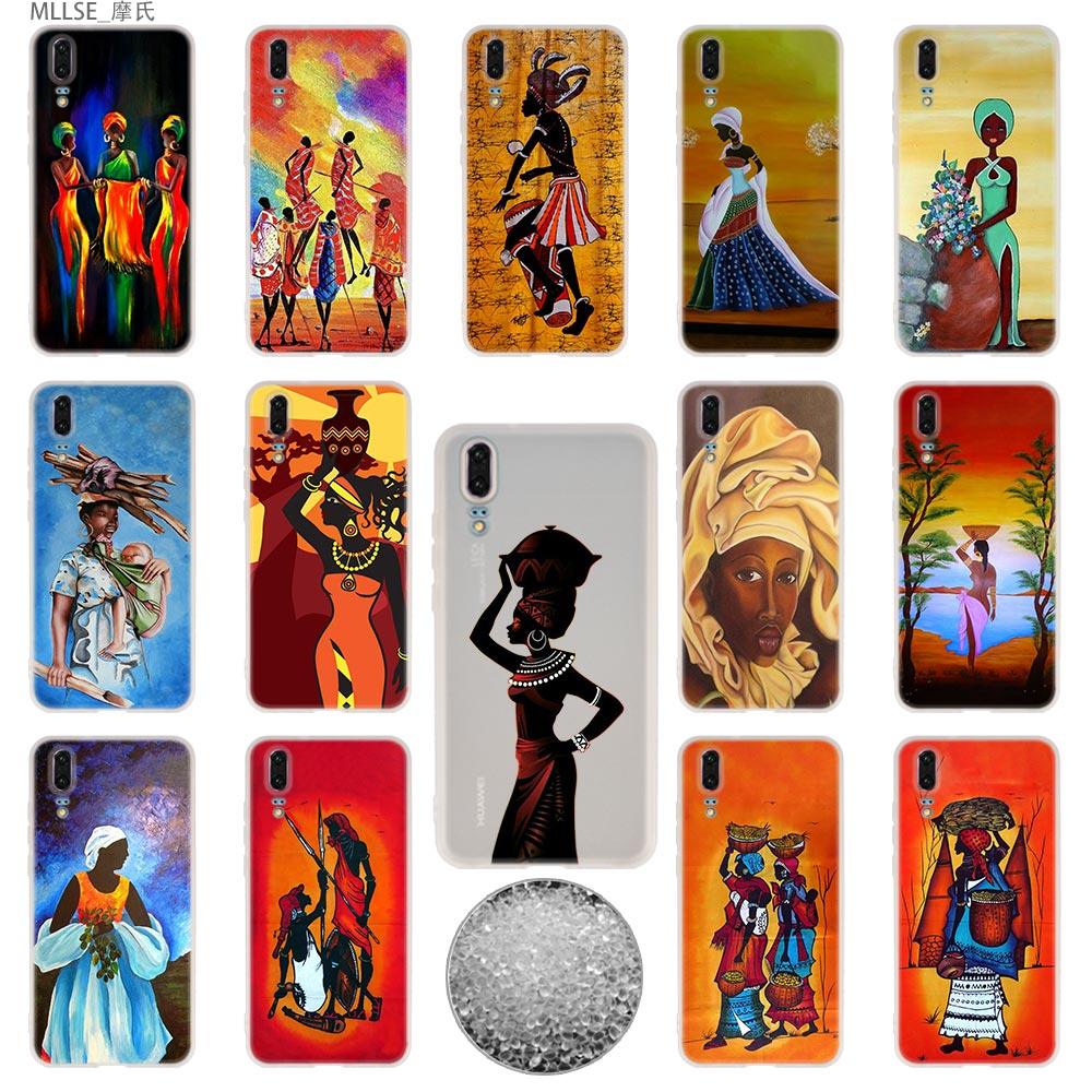 Intelligent Africana Art Tpu Cover Telefoon Gevallen Zachte Voor Huawei P 20 Pro P10 Plus P9 P8 Lite 2017 P30 Pro Samrt 2019 Nova 3e
