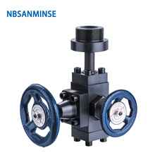 NBSANMINSE XJF10 20mm Stopping Valve For Hydraulic Bladder Accumulator Balance Miter Type
