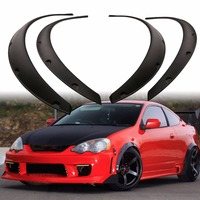 Mayitr High Quality 4pcs Car SUV Body Flexible Fender Flare Wheel Eyebrow Protector Durable Mudguards Kit