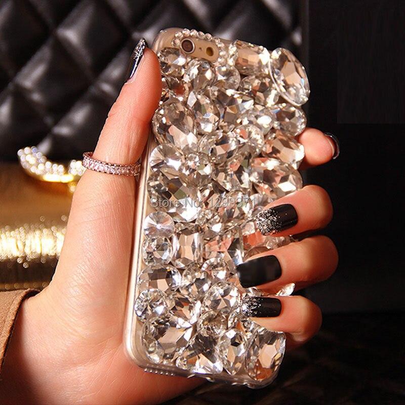 Bling Berlian Telepon Kasus Cover Untuk Iphone XS Max XR X 8 7 6 S - Aksesori dan suku cadang ponsel - Foto 3