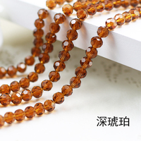 Wholesale Citrine Color 5000 Crystal Glass Beads Loose Round Stones Spacer For Jewelry Garment 4mm 6mm