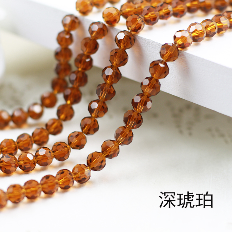 Wholesale~Dark Amber Color 5000# Crystal Glass Beads Loose Round Stones Spacer for Jewelry Garment.4mm 6mm 8mm 10mm m4 male m 25 30 35 40 45 50 55 60 mm x m4 6mm female brass standoff spacer copper hexagonal stud spacer hollow pillars