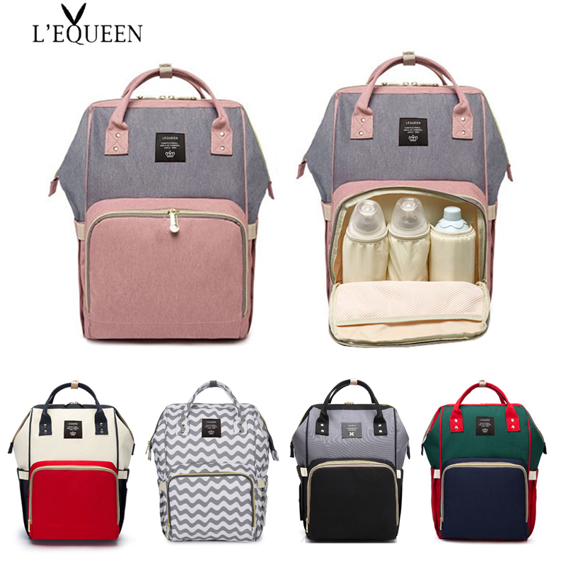 Large Capacity Baby Bag Mummy Travel Backpack Fashion Brand Designer Nursing Bag For Baby Mom Backpack Women Carry Care Bags