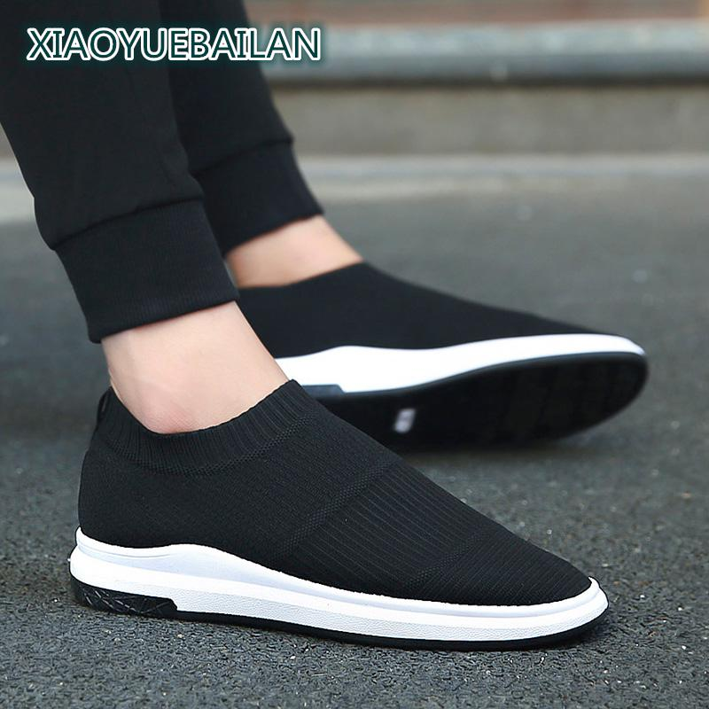 Mens Casual Shoes Spring Mesh Breathable Fabric Shoes Fashion Tide Flying Light And Comfortable