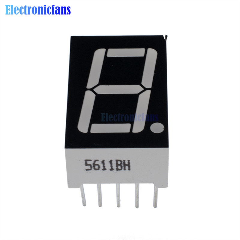 "10 PCS 1 Digits 0.36/""  GREEN 7 SEGMENT LED DISPLAY COMMON ANODE Digit LD-3161BG"