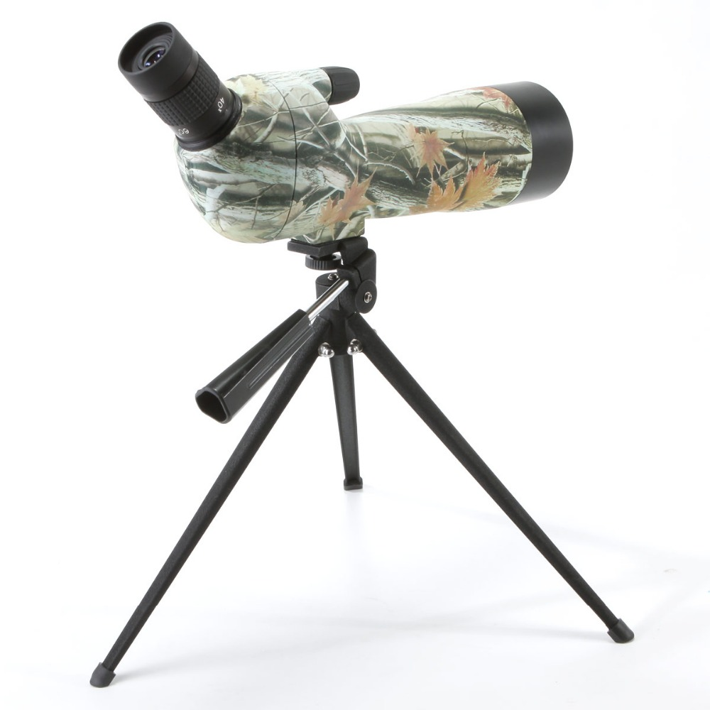 Cannocchiale telescopio Impermeabile Ad Angolo 20 60x60 Zoom Spotting Scopes con treppiede da tavolo camouflage/colore verde fast shipping - 2