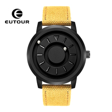 New EUTOUR Magnetic Mens Watches Top Brand Luxury Stainless Steel Fashion Casual Man Leather WristWatch Unisex Quartz Watch 2019